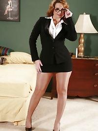 Pantyhose Business Suit