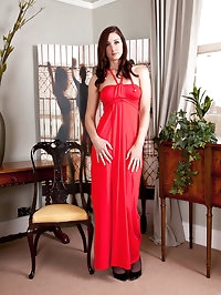 Cougar Ariel strips out of her gorgeous evening gown and..