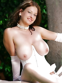 Busty Teen Paulina Big Tits and White Lingerie