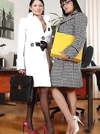 Hot Lesbian Foot Sex at the Office