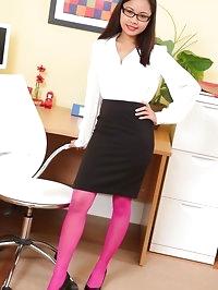 Cute Jasmin in pink lingerie