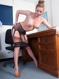Need it or not Holly is a fully fashioned nylon clad..