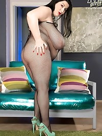 Boobs, Bump & Booty In A Body Stocking