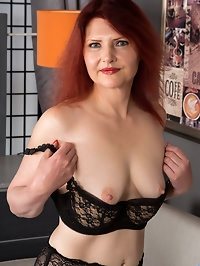 Get ready for Cee Cee, a mature German redhead whose..