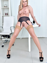 After a day at her computer, Lili Peterson needs to blow..