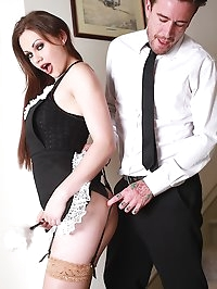 Maid Tina Kay Gets a Mouthful of Cum and She Loves It!!