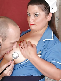 Nurse Angel gets fucked and tits creamed