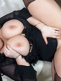 Jemstone tits fucks and rides black cock