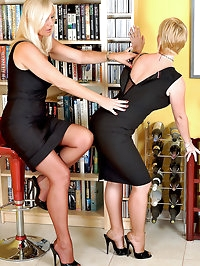 Lady Astrid makes sub secretary Annabelle worship her..