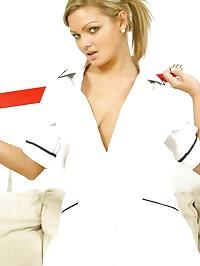 Naughty Nurse Jennifer in black holups