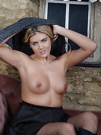 Stunning babe Victoria shows her nice boobs whilst..