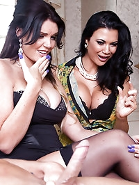 Jasmine Jae, Emma Leigh Pictures in Four Hands to Jerk the..