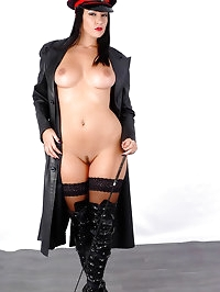 Hot busty Femdom Sammi Jo is in charge wearing only a long..