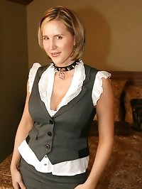 Naughty wife Desirae wearing slave collar