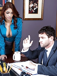 Jasmine Caro Pictures in Getting The Boss's Attention