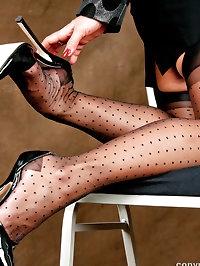 Mama wears polka dot stockings