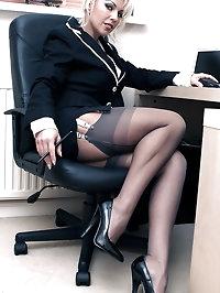 Leggy Lana enjoying some horny office games