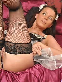 Sexy maid Marlyn can polish my knob anytime