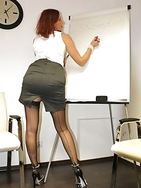 office boss upskirt and nylons