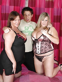 Busty Leah Jayne and Victoria share cock