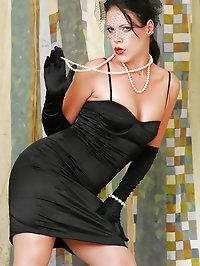 Her little black dress rocks