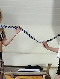 Busty teacher leasbian Miss Holli and Sophie Barrett